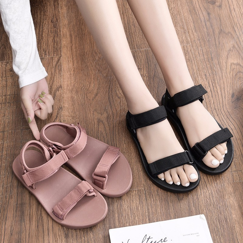 Sandals, women's fashion, flat-bottom super fire sports platform shoes