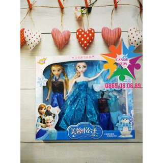 Búp bê Elsa và Anna loại to, hộp đẹp có quai xách