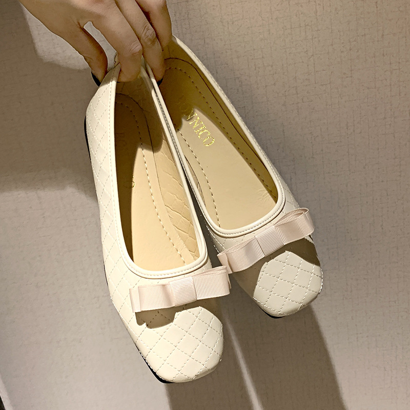Giày Búp Bê Mũi Vuông Thiết Kế Xinh Xắn Cho Nữ