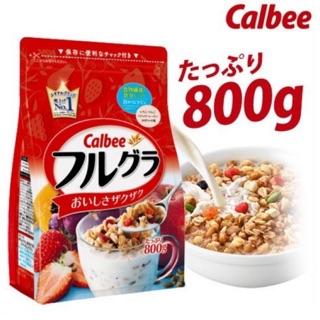 [Mẫu mới] Ngũ cốc Calbee 800gr màu đỏ - Nhật Bản[Date 4 2021] thumbnail