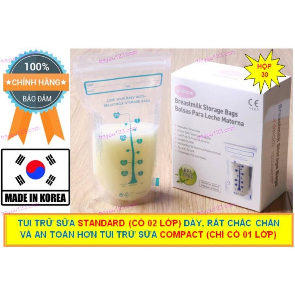 Hộp 30 túi trữ sữa mẹ Unimom Standard Tiêu Chuẩn 210ml Hàn Quốc - 2484384 , 1042985157 , 322_1042985157 , 161000 , Hop-30-tui-tru-sua-me-Unimom-Standard-Tieu-Chuan-210ml-Han-Quoc-322_1042985157 , shopee.vn , Hộp 30 túi trữ sữa mẹ Unimom Standard Tiêu Chuẩn 210ml Hàn Quốc