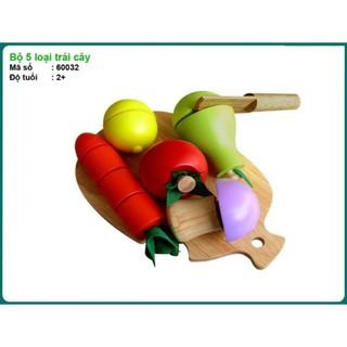 Đồ chơi bằng gổ Bộ 5 loại trái cây