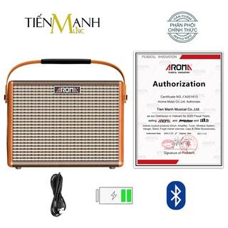 [Bluetooth, Pin sạc] Amply Aroma AG-15A - Loa Ampli Guitar AG15A Amplifier AG15 - Chính Hãng thumbnail
