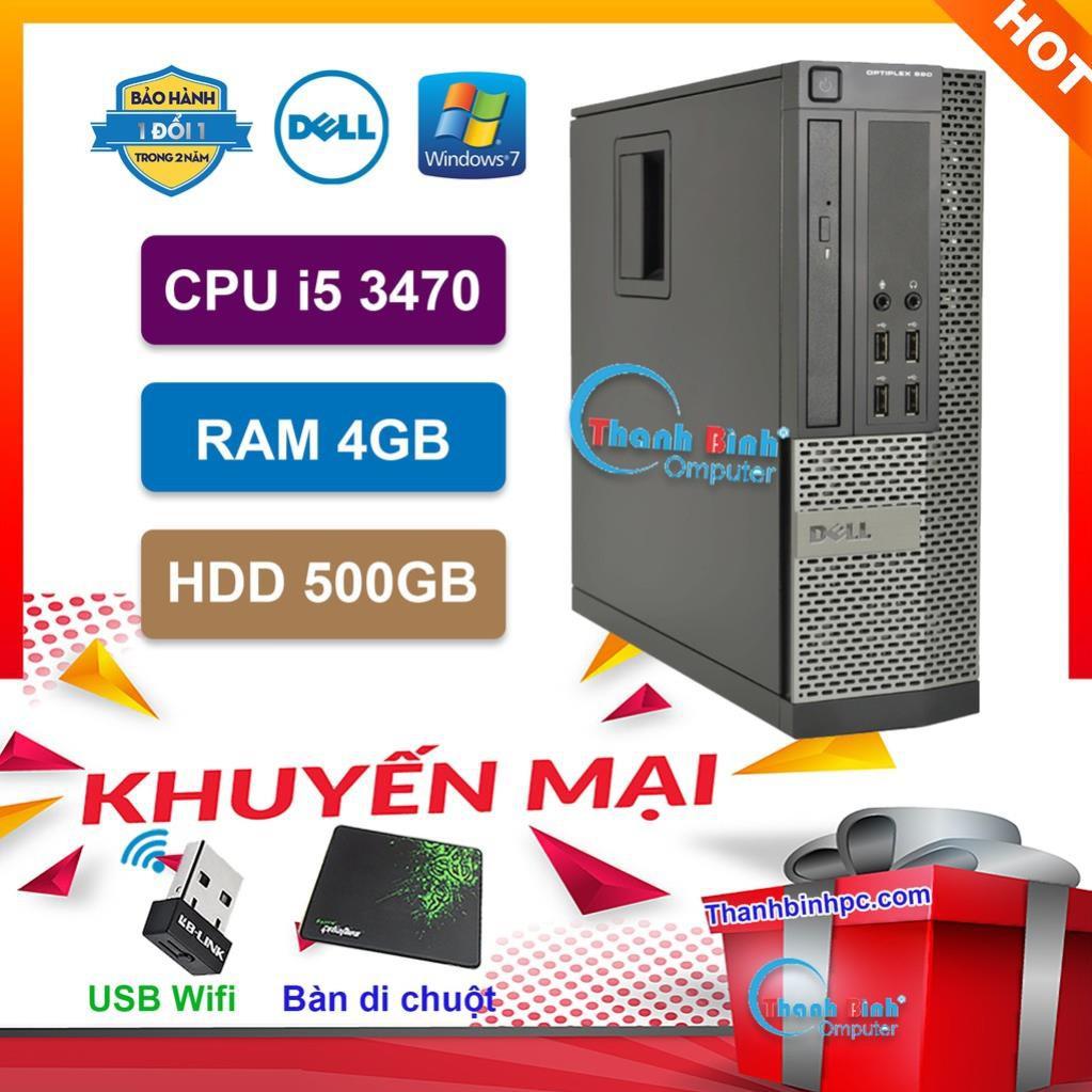 Máy Tính Để Bàn ThanhBinh Đồng Bộ Dell Optiplex (Core i5 3470/ 4GB/ 500GB) - Máy Tính Văn Phòng - Bảo Hành 24 Tháng.