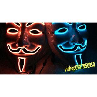 MẶT NẠ HÓA TRANG HACKER anonymous đèn led viền cao cấp chính hãng sp14 Rpro Xmã WB