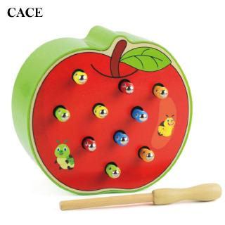 Catch Worm Game Magnetic Early Childhood Baby Puzzle Wooden Wooden Economic