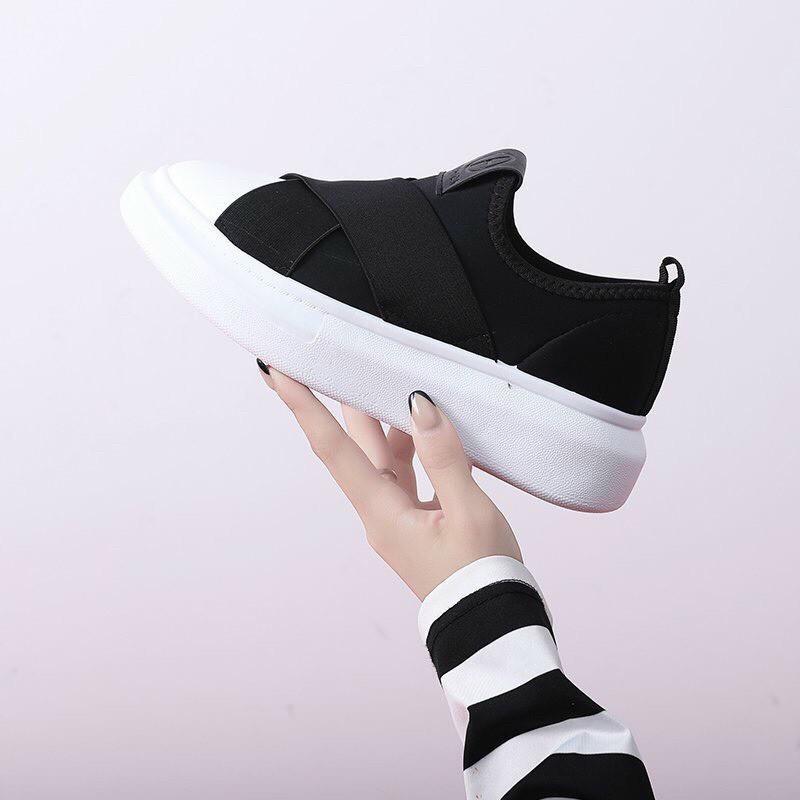 (ảnh thật) giày slipon nứ chun chéo đế êm nhẹ (freeship)