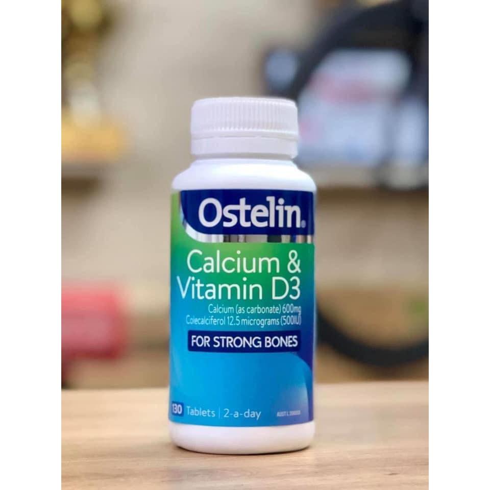 Viên uống bổ sung Canxi và Vitamin D3 Ostelin 130v