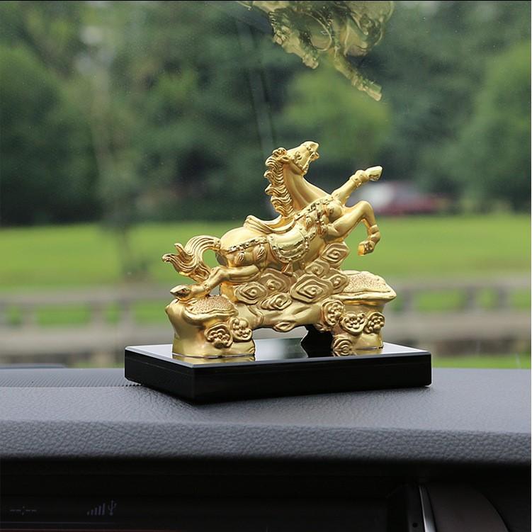 Chiến Thần Kim Mã Tượng Ngựa Mạ Vàng