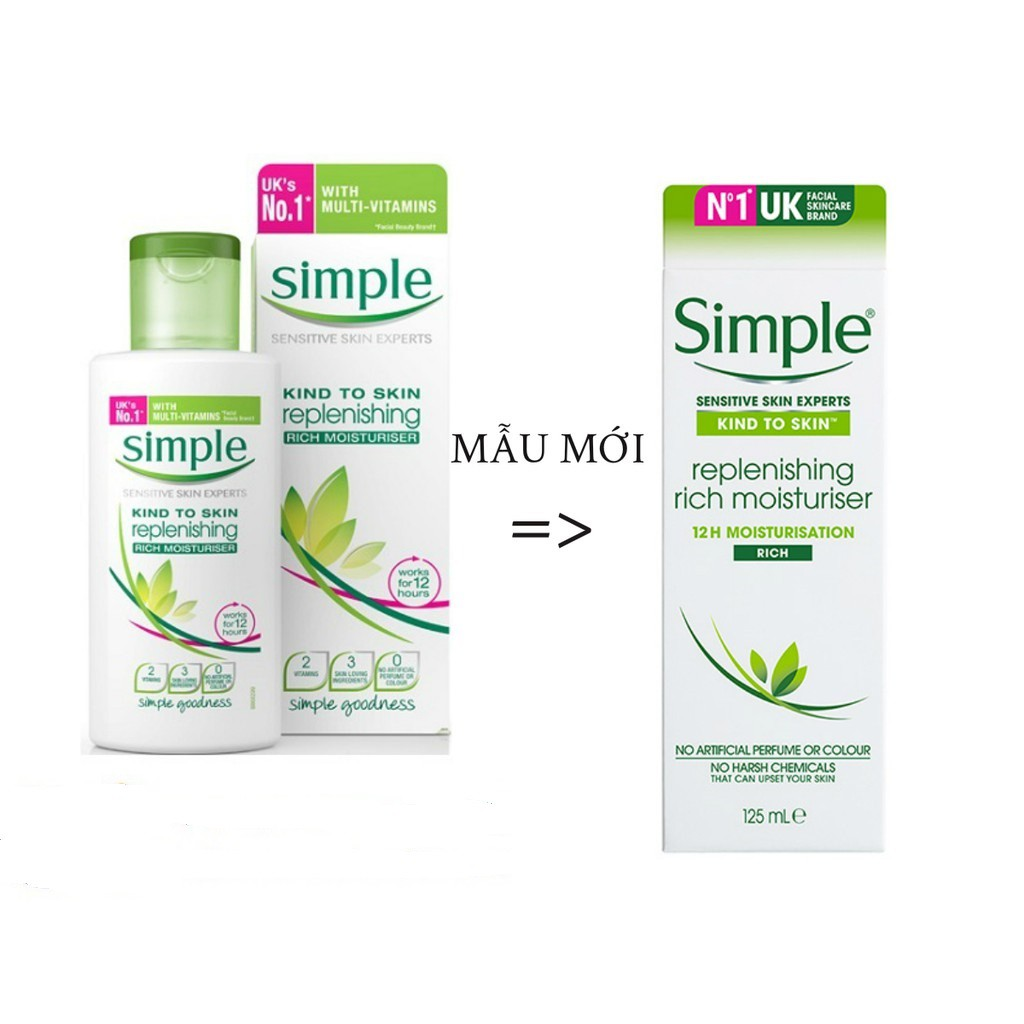 Sữa dưỡng ẩm Simple Kind to Skin Replenishing Rich Moisturiser