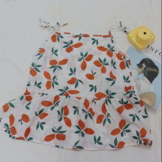 Áo hai dây hoạ tiết trái cam