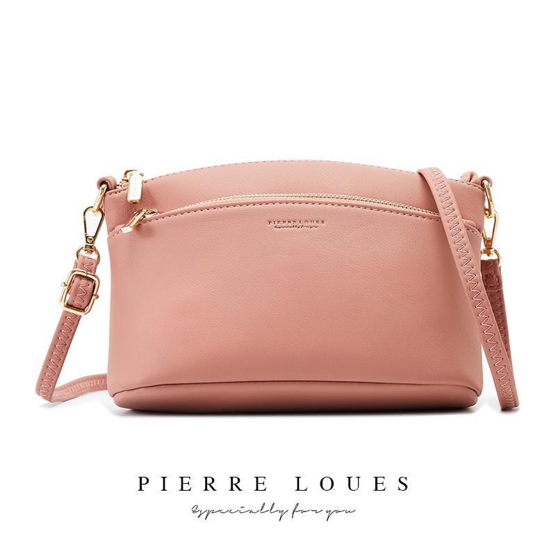 Túi đeo chéo nữ đi học mini nhỏ gọn đẹp PIERRE LOUES dễ thương nhiều ngăn TX493