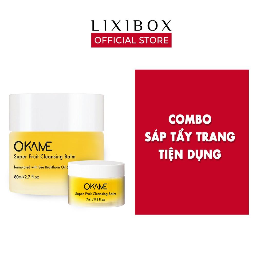 Combo Sáp Tẩy Trang Okame Super Fruit Cleansing Balm 80ml và mini size 7ml