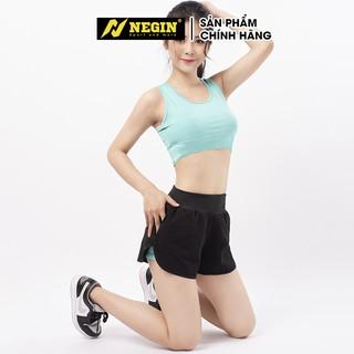 Bộ đồ tập Gym Aerobic, Yoga Quần đùi boxer 2 lớp và Áo bra NEGIN thể thao nữ cực đẹp