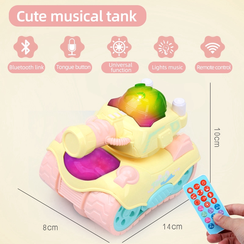 Light Up Bus Car Toy Remote Musical Baby Electric Bluetooth Plane Tank Model Boys