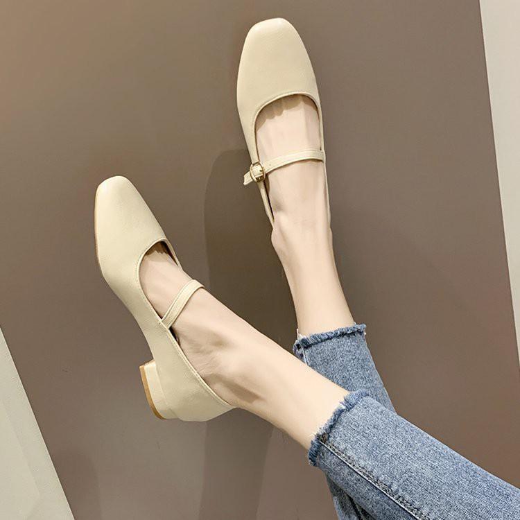 giày bít mũi vuông đế vuông thời trang cho nữ - 14898454 , 2802886656 , 322_2802886656 , 304200 , giay-bit-mui-vuong-de-vuong-thoi-trang-cho-nu-322_2802886656 , shopee.vn , giày bít mũi vuông đế vuông thời trang cho nữ