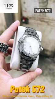 [QUÀ TẶNG] Đồng hồ nam - Đồng Hồ Dây Thép Chống Nước Chống Xước Máy Chuẩn Chất Liệu Cao Cấp 572.LO - 1199 Watches