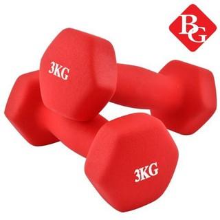 BG Bộ tạ tay 3KG cao cấp tập Gym tập thể dục (TỔNG 6KG) ĐỎ thumbnail