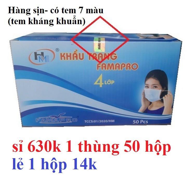 1 thùng 50 hộp Khẩu Trang y Tế 4 lớp - khẩu trang y tế kháng khuẩn