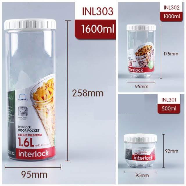 Hộp đựng thực phẩm Lock&Lock Interlock INL201 INL202 INL203 INL301 INL302 INL303 INL304 INL305 INL401 INL402 INL403