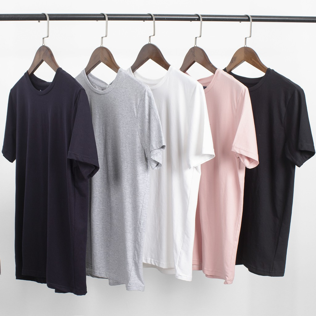 Áo thun nam trơn cổ tròn đen trắng chất cotton nam nữ Jan Store , áo phông ngắn tay unisex basic