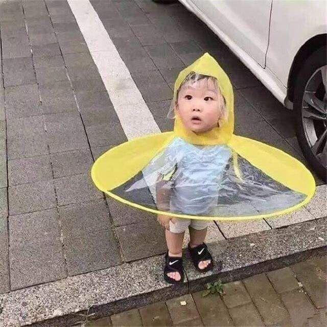 Áo mưa nón đáng yêu cho bé