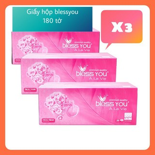 Giấy lụa bless you Combo 3 hộp x 180 tờ