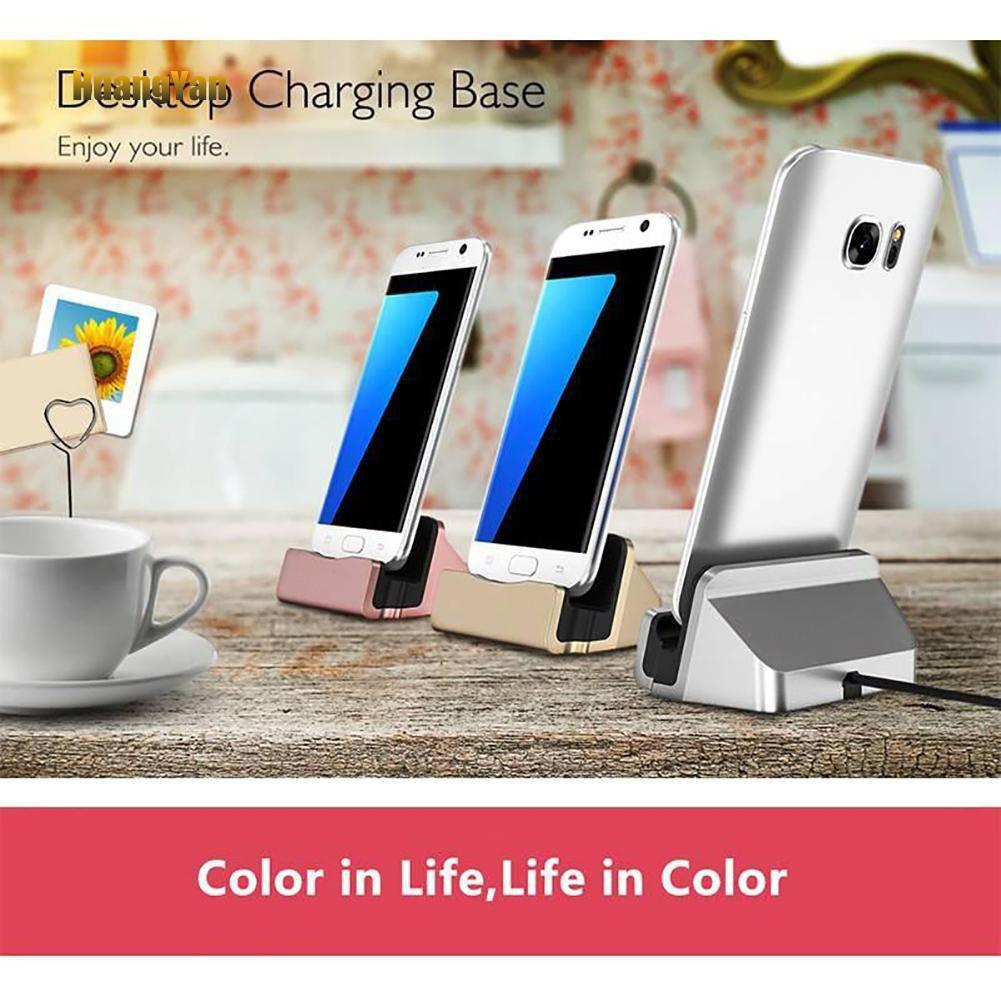 Đế Sạc Đứng Loại C / Micro Usb Cho Iphone Huawei