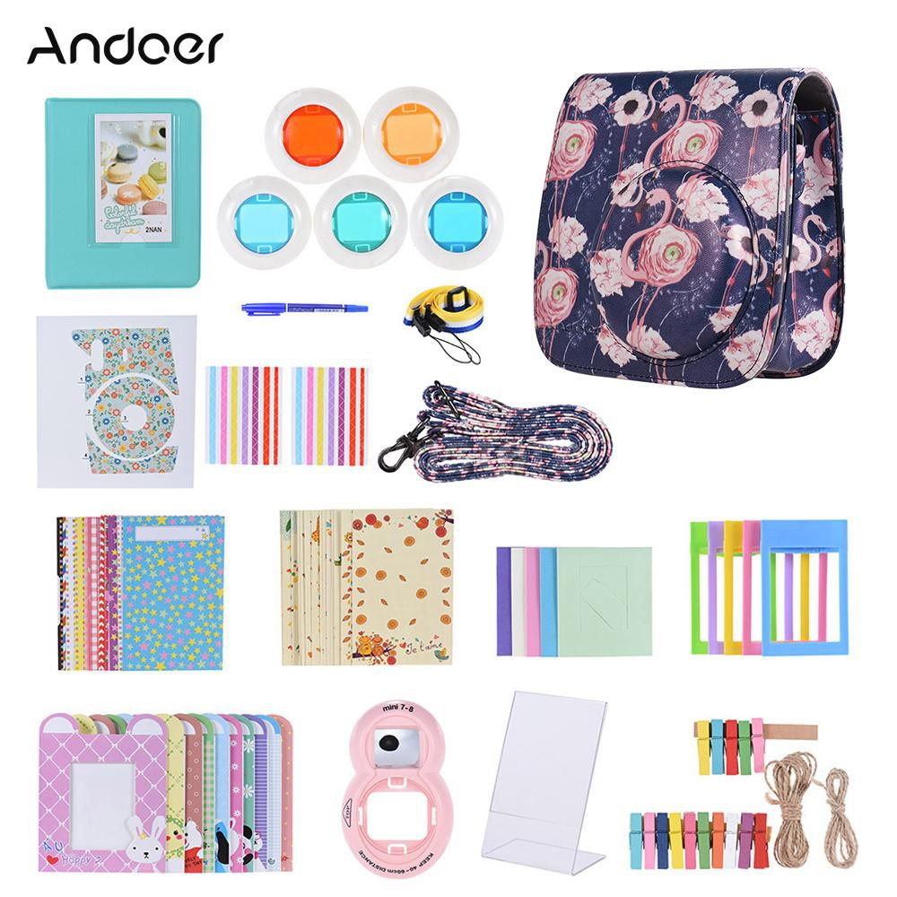 yins♥Andoer 14 in 1 Accessories Kit for Fujifilm Instax Mini 9/8/8+/8s with Camera Case/Strap/Sticker/Selfie Lens/5*Colo - 23039627 , 3809006416 , 322_3809006416 , 494931 , yinsAndoer-14-in-1-Accessories-Kit-for-Fujifilm-Instax-Mini-9-8-8-8s-with-Camera-Case-Strap-Sticker-Selfie-Lens-5Colo-322_3809006416 , shopee.vn , yins♥Andoer 14 in 1 Accessories Kit for Fujifilm Inst