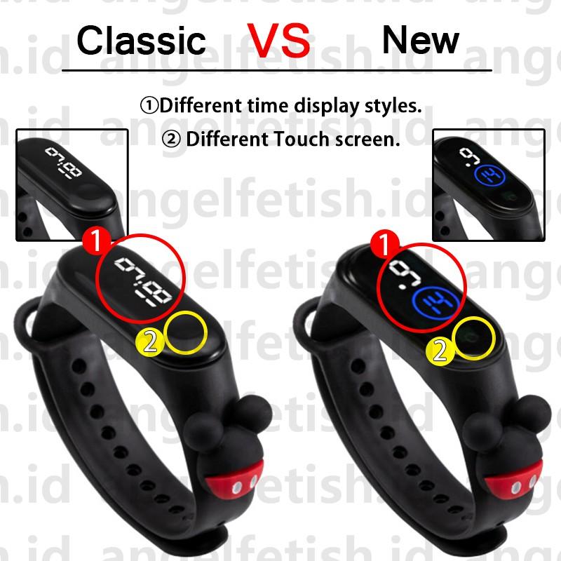 Đồng hồ điện tử đeo tay chống thấm nước tích hợp đèn dễ thương cho bé