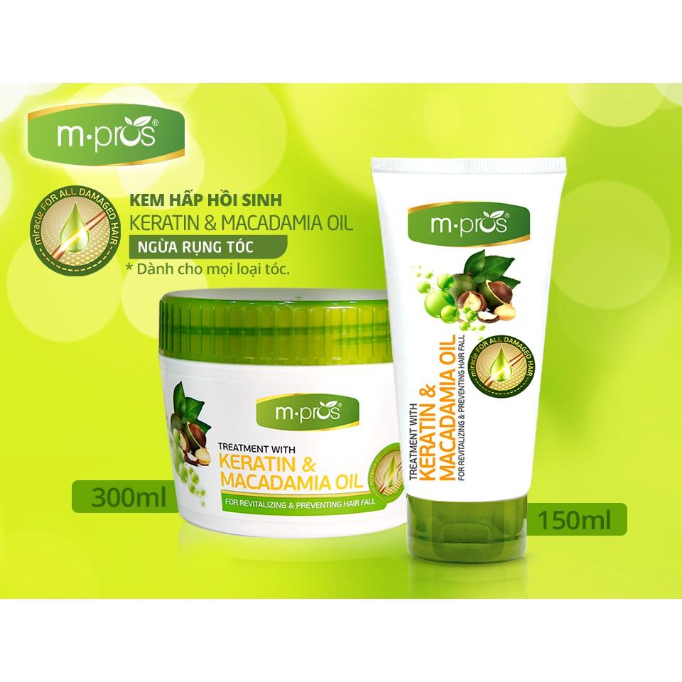 Kem Hấp Hồi Sinh M.Pros Kertin & Macadamia Ngừa Rụng Tóc 150ml