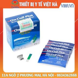 Que thử đường huyết on call plus (tiểu đường) hộp 25 que tặng kèm 25 kim lấy máu thumbnail