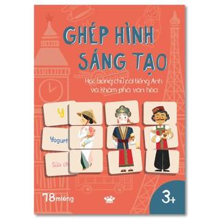 Flashcard - Bộ Thẻ Ghép hình sáng tạo - Học bảng chữ cái tiếng Anh và khám phá văn hóa - Crabit Kidbooks thumbnail