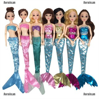 MT 3Pcs Glittering Mermaid Doll Clothes Accessories Girls Gift Fit 30cm Doll NY