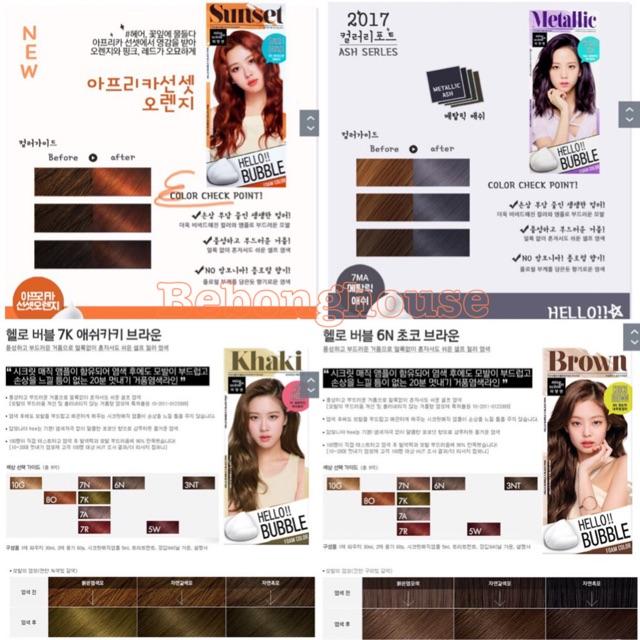 (Blackpink) ĐỦ MÀU Bọt nhuộm tóc Mise en Scene Hello Bubble Color Hàn Quốc