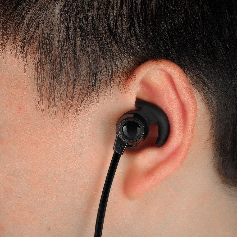 Set tai nghe nhét tai Bluetooth 4.2 +EDR thiết kế vòng cổ tiện dụng và phụ kiện