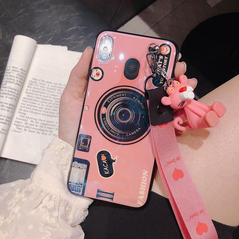 Ốp điện thoại họa tiết camera dễ thương cho ASUS ZB601KL ZB631KL ZB633KL ZB 601 631 633 KL kèm phụ kiện