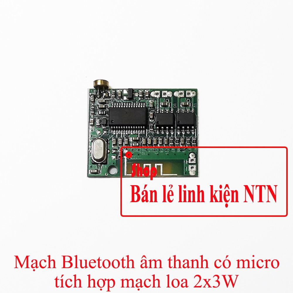 Mạch bluetooth âm thanh stereo có micro tích hợp mạch loa 2x3w
