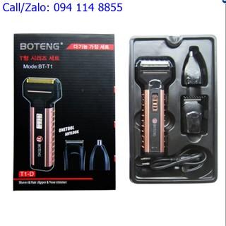 Tông đơ cắt tóc,máy cạo râu, máy cắt lông mũi BOTENG BT-T1 (mầu đồng phối đen )