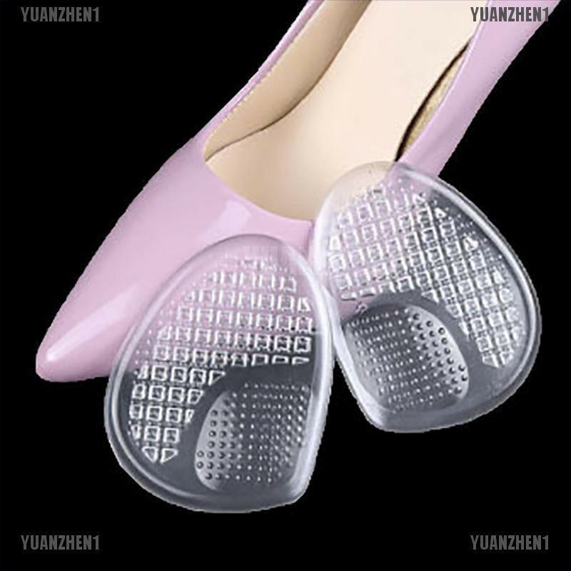 [GIÁ SỈ] 2 Miếng Lót Mũi Giày Nữ silicon   Kích Size Giầy, Massage Chống Đau Chân