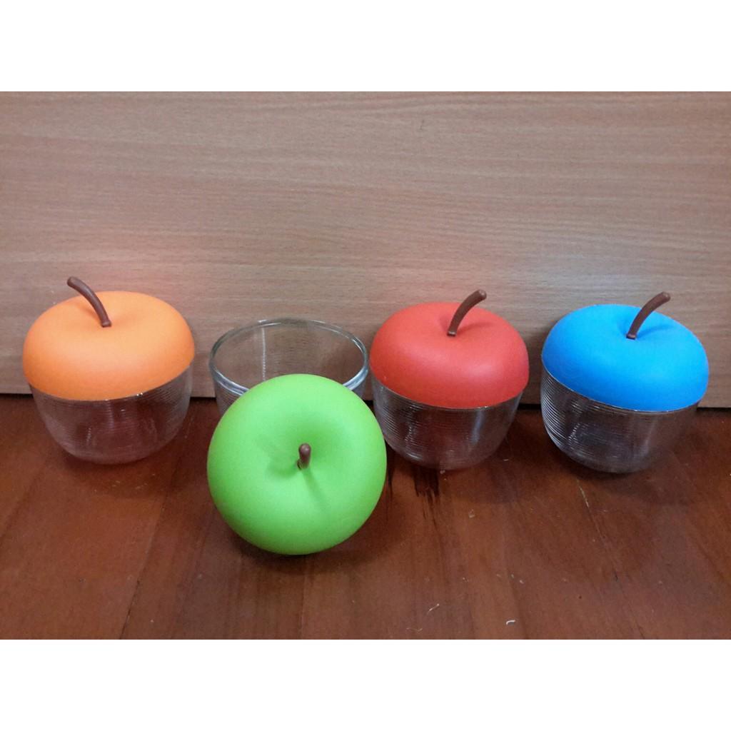 Hũ đựng gia vị thủy tinh hình quả táo