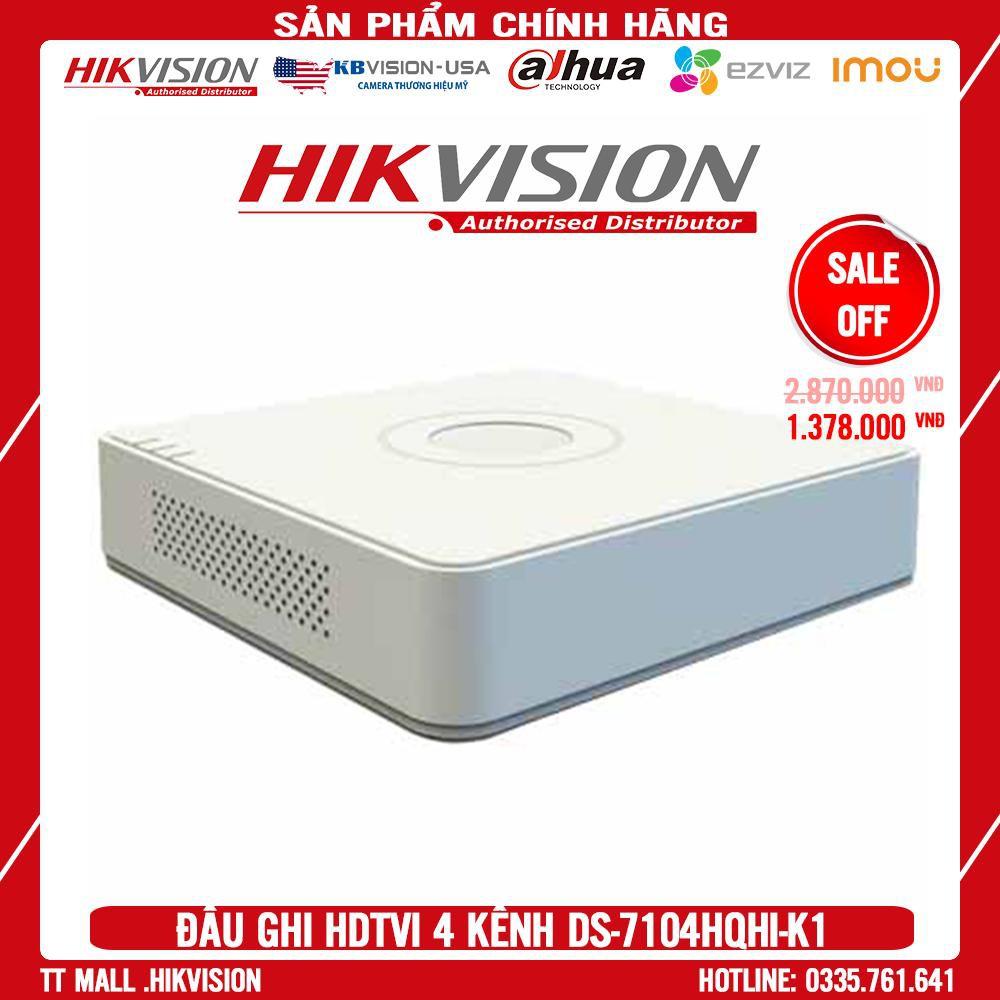 Đầu Ghi Hình HIKVISION HD-TVI 4 Kênh  2MP/3MP DS-7104HQHI-K1