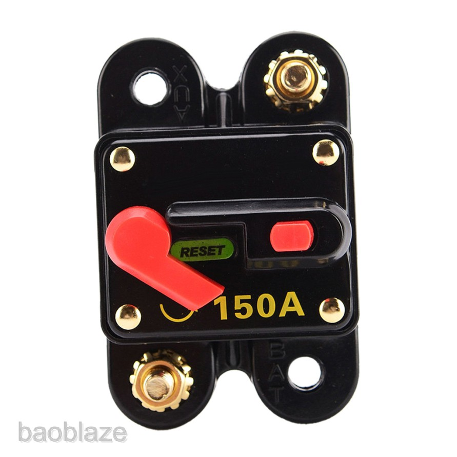 150 Amp Push Reset Circuit Breaker Fuse  Electrical System Protection