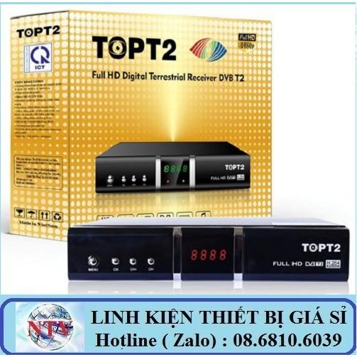 Combo Đầu thu DVB T2 TOP T2 + Anten + Cáp 15m