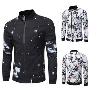 Men's Print Baseball Jacket Stylish Coat New SFGHOUSE