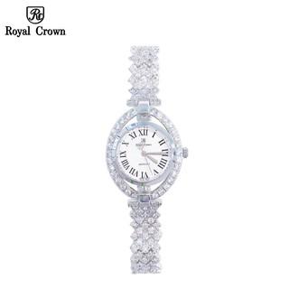 Đồng hồ nữ chính hãng Royal Crown 4610 dây đá vỏ trắng thumbnail