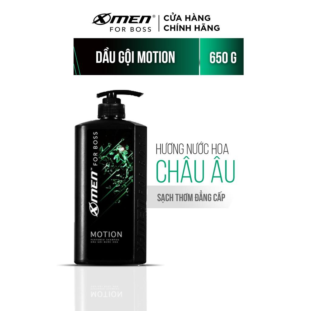 Dầu gội nước hoa X-Men For Boss Motion – Mùi hương năng động phóng khoáng 650g