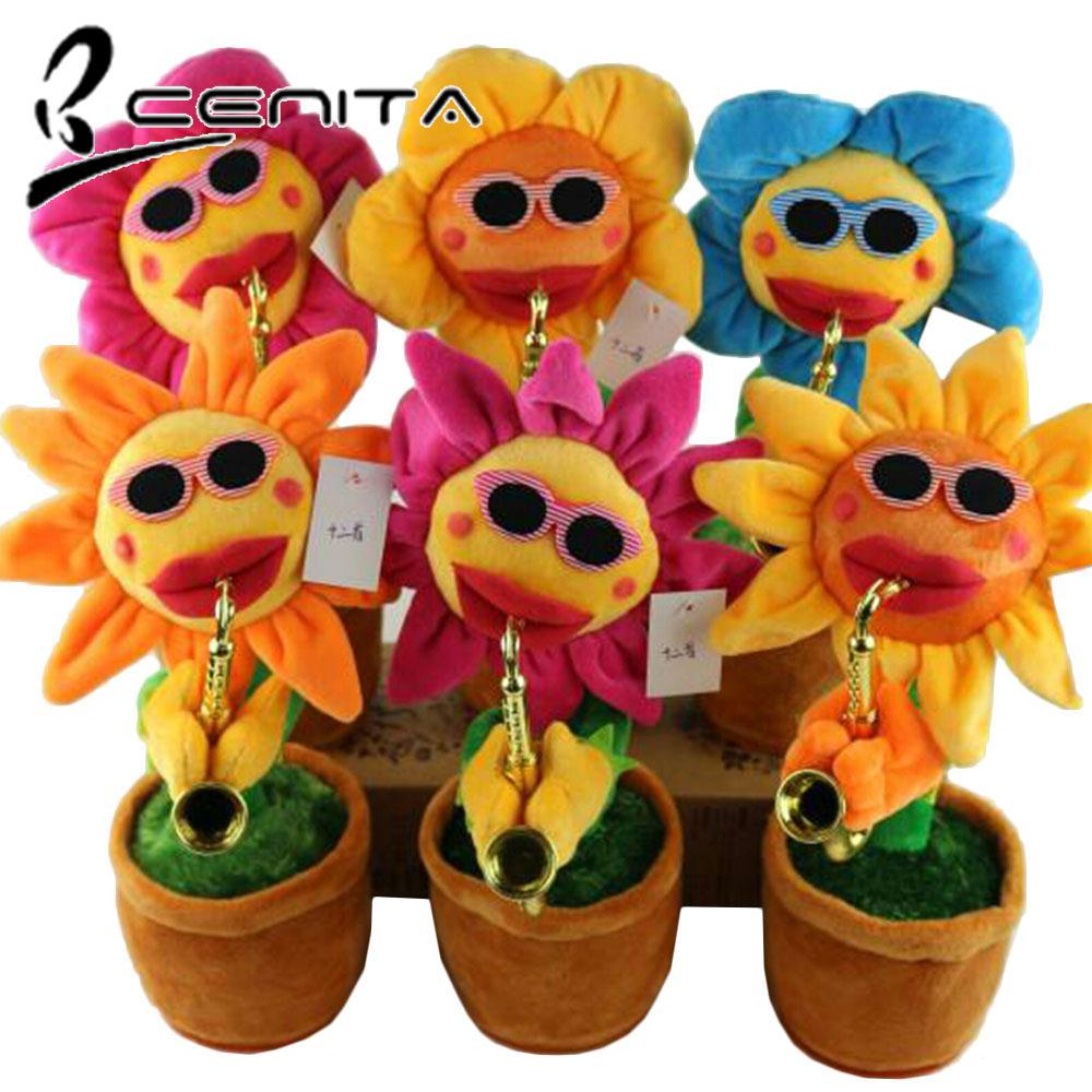 CNT Plush Sunflower Toy Display Dancing Sunflower Plush Amusement