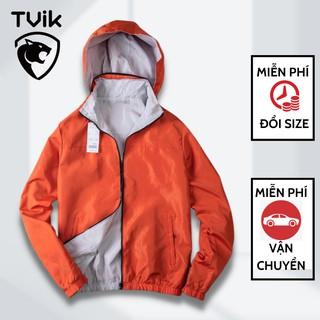 Áo khoác gió nam, nữ Tvik mặc được cả hai mặt Mẫu Mới đủ size đến 90kg, 3KG2