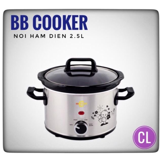[Mã ELMA300 Giảm 10% đơn 250K](Tro gia) Hang chinh hang -Nồi nấu cháo chậm BB Cooker 2,5l